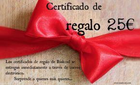 CERTIFICADO REGALO 25